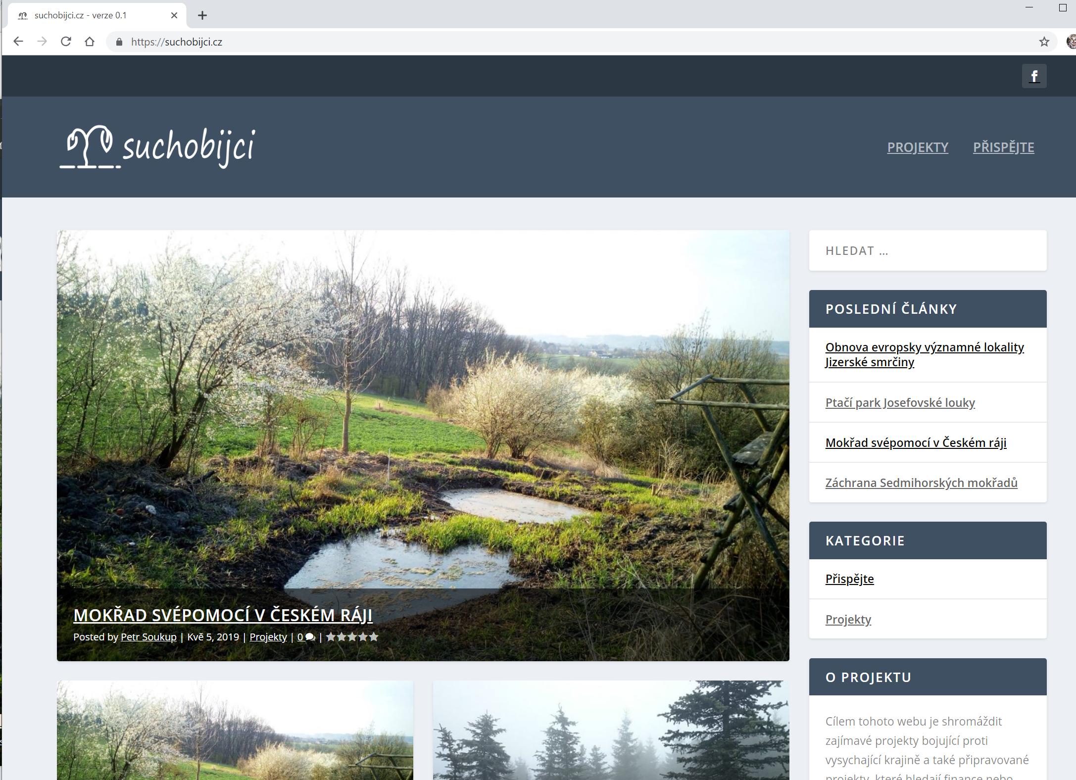 Suchobijci.cz - verze 0.1